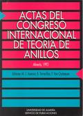 ACTAS DEL CONGRESO INTERNACIONAL SOBRE ÁLGEBRA CONMUTATIVA : ANILLOS CONMUTATIVOS Y SUS MÓDULOS