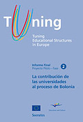 TUNING EDUCATIONAL STRUCTURES IN EUROPE II (CASTELLANO). LA CONTRIBUCIÓN DE LA UNIVERSIDADES AL