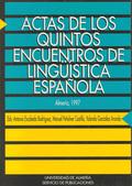 ACTAS QUINTOS ENCUENTROS LINGUISTICA ESPAÑOLA