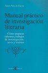 MANUAL DE INVESTIGACIÓN LITERARIA