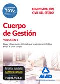 CUERPO DE GESTIÓN DE LA ADMINISTRACIÓN CIVIL DEL ESTADO. TEMARIO VOLUMEN 1.