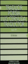 TRADUCIR POESÍA : LUIS CERNUDA, TRADUCTOR