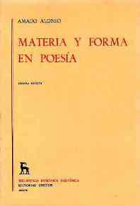 MATERIA FORMA POESIA