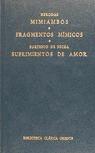MIMIAMBOS.FRAGMENTOS MIMICOS.SUFRIMIENTOS DE AMOR (N.44)