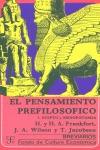 EL PENSAMIENTO PREFILOSÓFICO