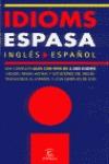 DICCIONARIO IDIOMS ESPAÑOL / INGLÉS
