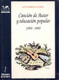 CANCION DE AUTOR Y EDUCACION POPULAR