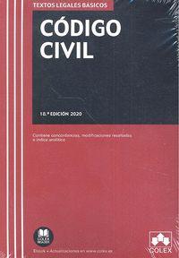 CÓDIGO CIVIL. 18ª ED. 2020