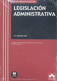 LEGISLACIÓN ADMINISTRATIVA. 18 ED. 2020