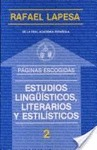 ESTUDIOS LINGÜSTICOS, LITERARIOS Y ESTILÍSTICOS