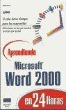 APRENDIENDO MICROSOFT WORD 2000 24 HORAS