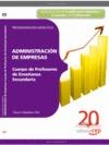 CUERPO DE PROFESORES DE ENSEÑANZA SECUNDARIA. ADMINISTRACIÓN DE EMPRESAS (ADE). PROGRAMACIÓN DI