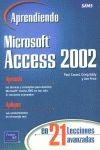 APRENDIENDO MICROSOFT ACCESS 2002