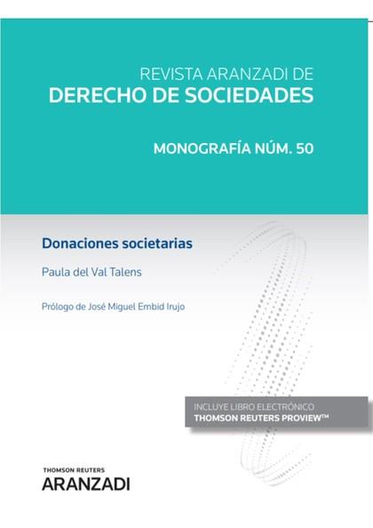 DONACIONES SOCIETARIAS (PAPEL + E-BOOK).