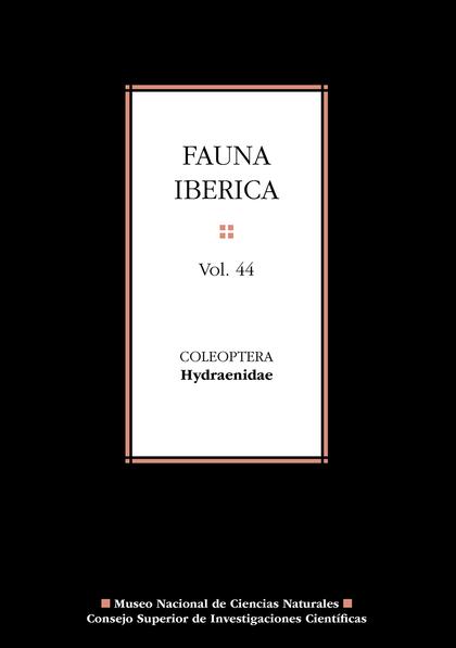 FAUNA IBÉRICA VOL. 44. COLEOPTERA: HYDRAENIDAE.