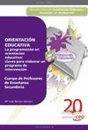 CUERPO DE PROFESORES DE ENSEÑANZA SECUNDARIA, ORIENTACIÓN EDUCATIVA : LA PROGRAMACIÓN EN ORIENT