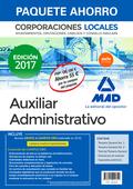 PAQUETE AHORRO AUXILIAR ADMINISTRATIVO DE CORPORACIONES LOCALES. AHORRO DE 55 ?