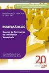 CUERPO DE PROFESORES DE ENSEÑANZA SECUNDARIA, MATEMÁTICAS, 4 ESO. PROGRAMACIÓN DIDÁCTICA