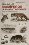 GUIA MAMIFEROS ESPAÑA EUROPA
