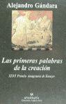LAS PRIMERAS PALABRAS DE LA CREACIÓN