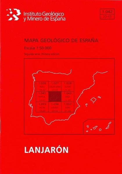 MAPA GEOLÓGICO DE ESPAÑA. E 1:50.000. HOJA 1042, LANJARÓN