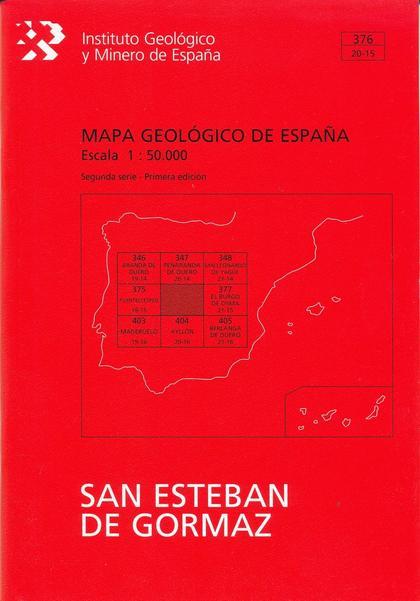 MAPA GEOLÓGICO DE ESPAÑA. E 1:50.000. HOJA 376, SAN ESTEBÁN DE GORMAZ