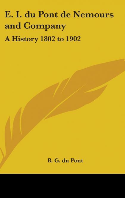 E. I. DU PONT DE NEMOURS AND COMPANY