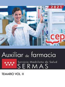 TECNICO/A AUXILIAR DE FARMACIA SERVICIO MADRILEÑO TEMARIO 2.