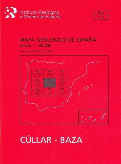 MAPA GEOLÓGICO DE ESPAÑA. E 1:50.000. HOJA 972, CÚLLAR-BAZA