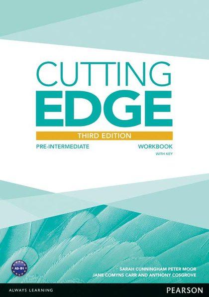 CUTTING EDGE PRE INTERMEDIATE WORKBOOK WITH KEY (3RD ED.)