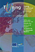 REFERENCE POINTS FOR THE DESIGN AND DELIVERY OF DEGREE PROGRAMMES IN EUROPEAN STUDIES : TUNING