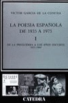 Poesía española de postguerra, I