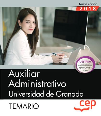 AUXILIAR ADMINISTRATIVO DE LA UNIVERSIDAD DE GRANADA. TEMARIO.