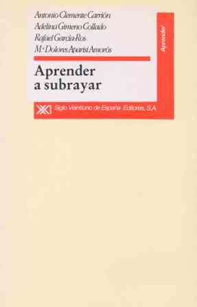 APRENDER A SUBRAYAR. MANUAL