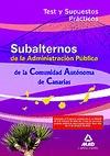 SUBALTERNOS DE LA ADMINISTRACIÓN PÚBLICA, COMUNIDAD AUTÓNOMA DE CANARIAS. TEST Y SUPUESTOS PRÁC