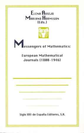 MESSENGERS MATHEMATICS EUROPEAN MATHEMATICAL JOURNAL 1800-1946