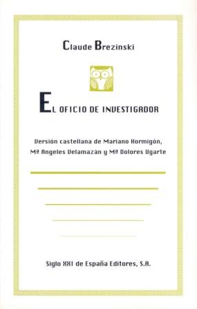 EL OFICIO DE INVESTIGADOR