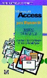 MICROSOFT ACCESS PARA WINDOWS 95 MANUAL DE BOLSILLO
