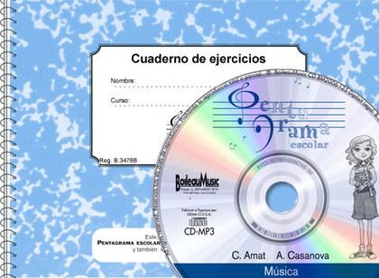 PENTAGRAMA ESCOLAR 3 - CD + QUADERN D´EXERCICIS.