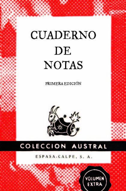 CUADERNO DE NOTAS ROJO 9X14CM.