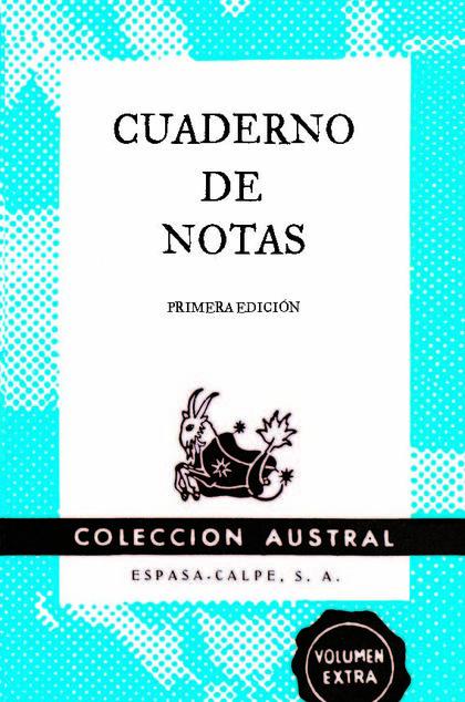 CUADERNO DE NOTAS AZUL 9X14CM.