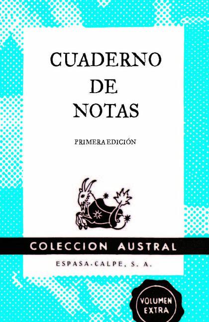 CUADERNO DE NOTAS AZUL 11,2X17,4CM.