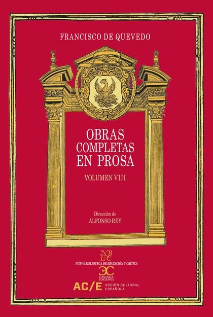OBRAS COMPLETAS EN PROSA VOL 8
