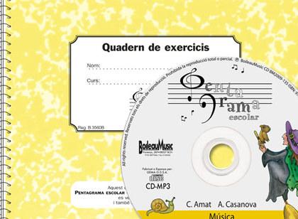 PENTAGRAMA ESCOLAR 5 - CD + QUADERN D´EXERCICIS.