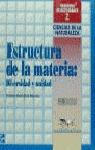 CUADERNOS ACTIVIDADES 2 CIENCIAS DE LA NATURALEZA ESTRUCTURA MATERIA