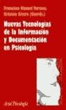 NUEVAS TECNOLOGÍAS DE LA INFORMACIÓN Y DOCUMENTACIÓN EN PSICOLOGÍA