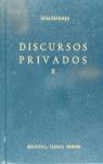 DISCURSOS PRIVADOS II (N.65)