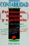 CONTABILIDAD GUIAS UTILES PATRIMONIO BALANCE Y EQUILIBRIO