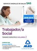 TRABAJADOR/A SOCIAL DEL SERVICIO ANDALUZ DE SALUD. TEMARIO ESPECÍFICO VOLUMEN 2.