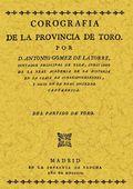 COROGRAFÍA DE LA PROVINCIA DE TORO